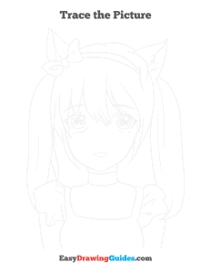717 how to draw an anime cat girl - ebook trace page thumbnail 300h