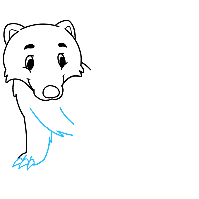 How to Draw a Badger Step 04