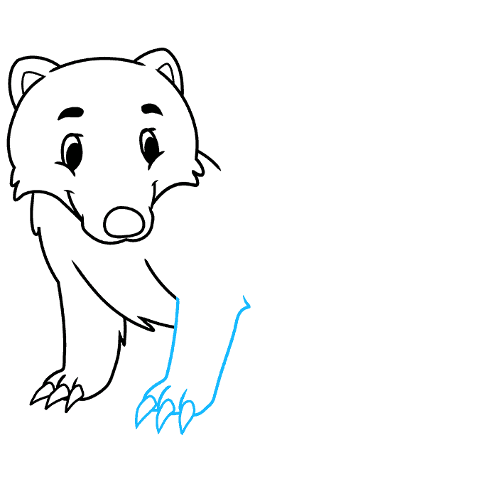 How to Draw a Badger Step 05