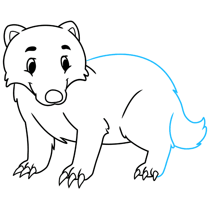 How to Draw a Badger Step 07