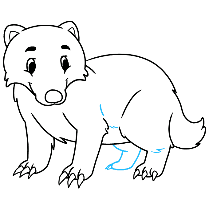 How to Draw a Badger Step 08