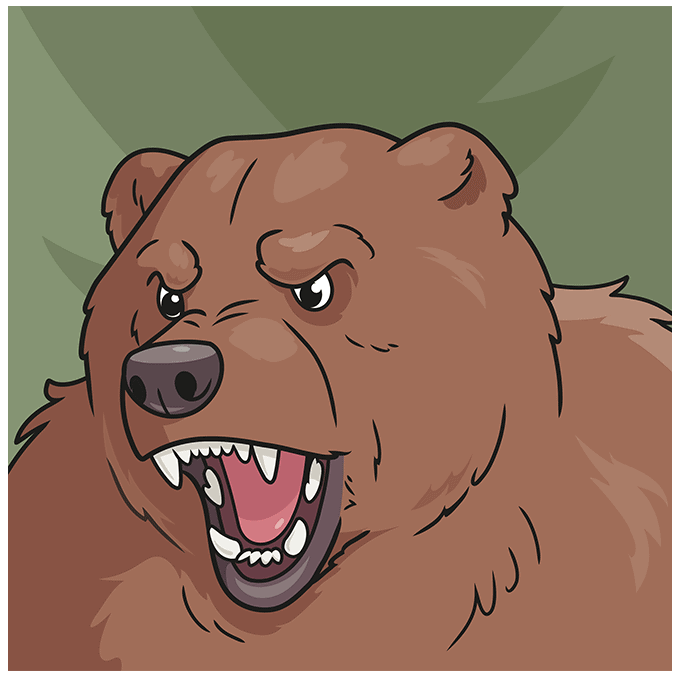 How to Draw a Bear Face Step 10