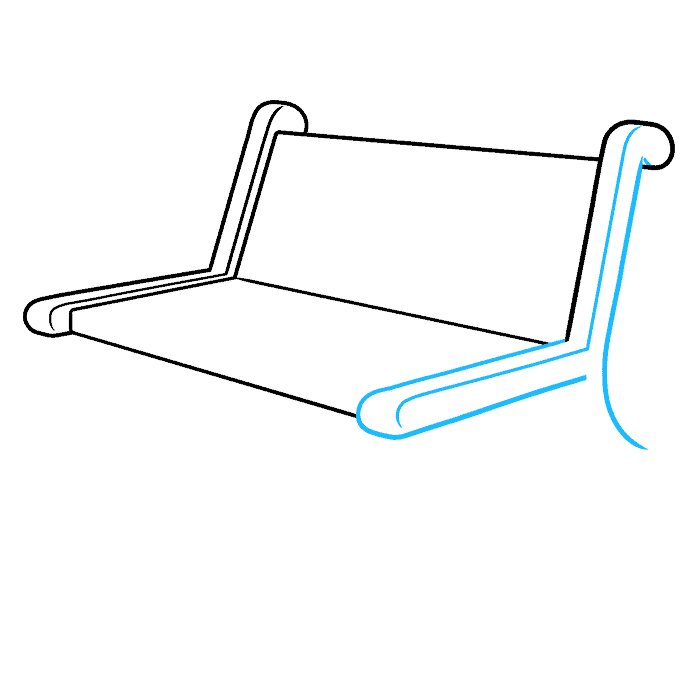 How to Draw a Bench Step 03
