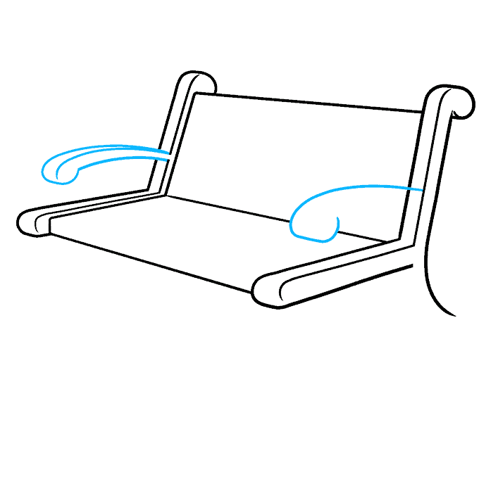 How to Draw a Bench Step 04