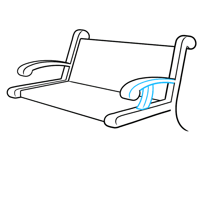 How to Draw a Bench Step 05