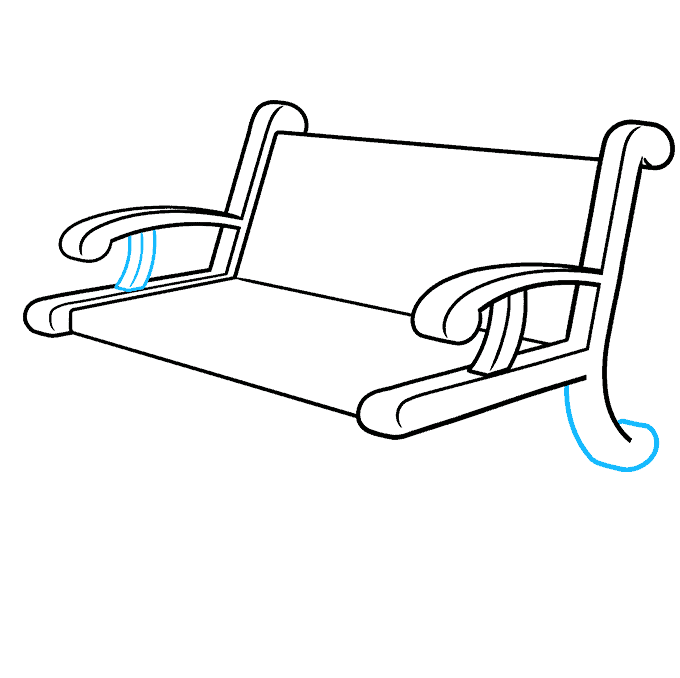 How to Draw a Bench Step 06