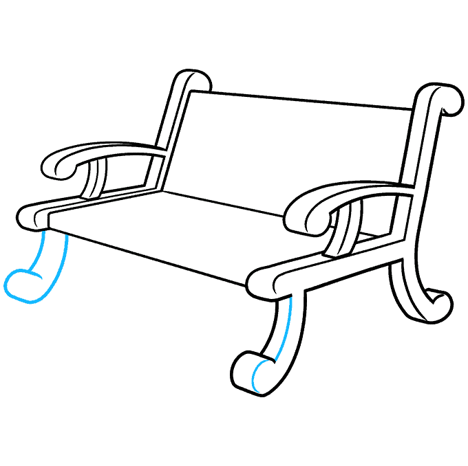 How to Draw a Bench Step 08