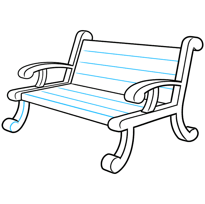 How to Draw a Bench Step 09
