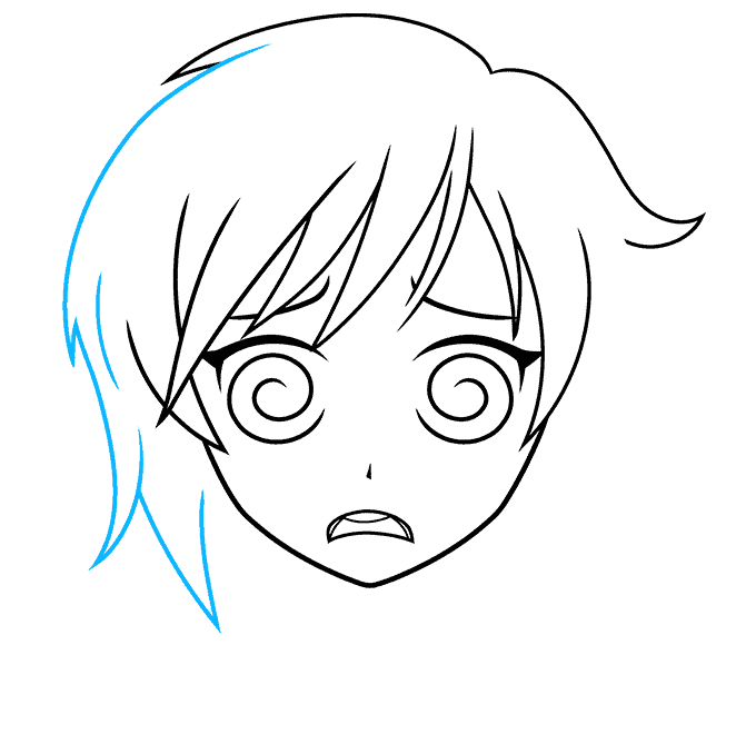How to Draw a Confused Anime Face Step 06