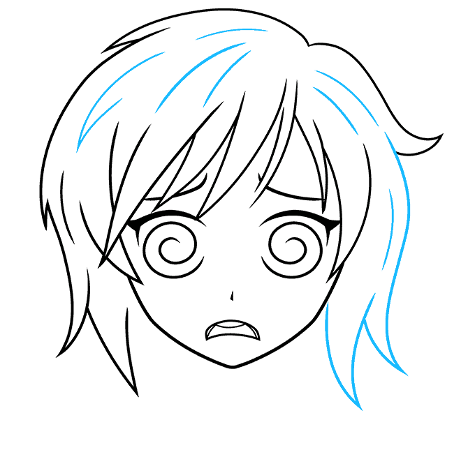How to Draw a Confused Anime Face Step 07