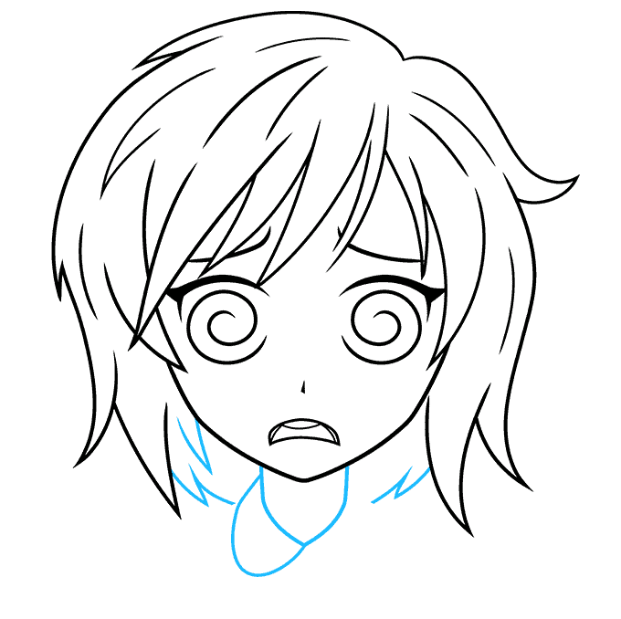 How to Draw a Confused Anime Face Step 08