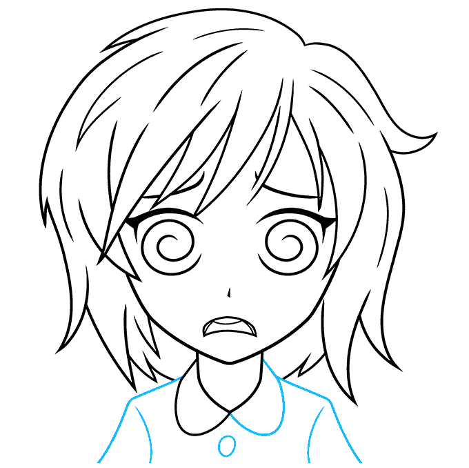 How to Draw a Confused Anime Face Step 09