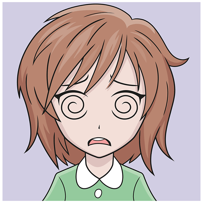How to Draw a Confused Anime Face Step 10
