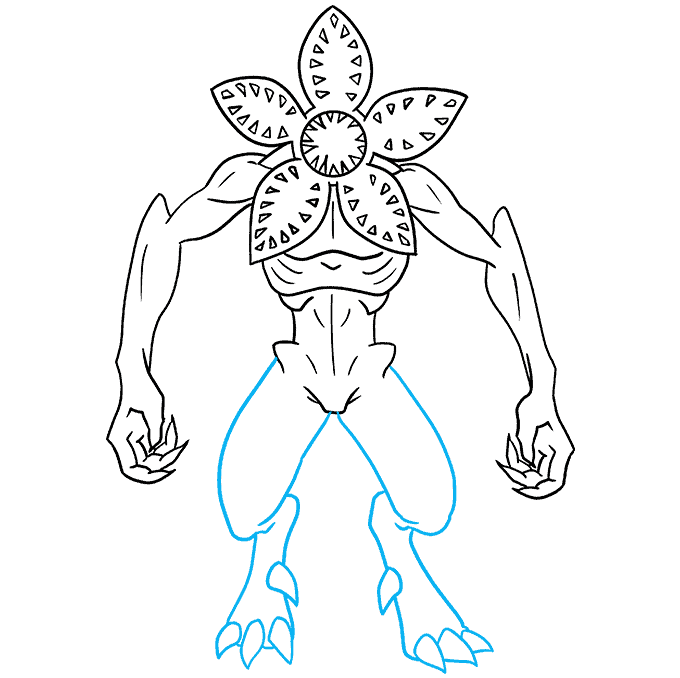 How to Draw the Demogorgon from Stranger Things Step 08