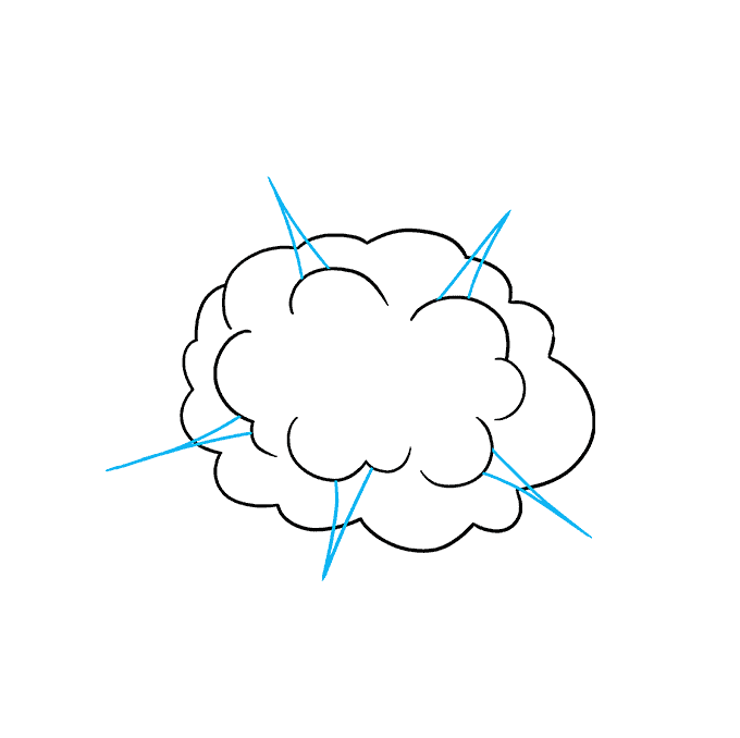 How to Draw an Explosion Step 03