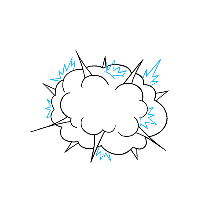 How to Draw an Explosion Step 05