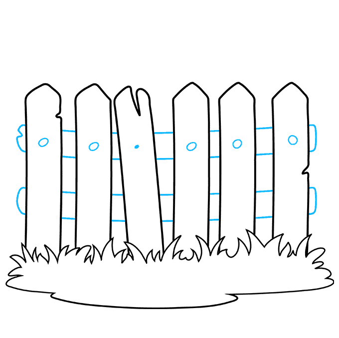 How to Draw a Fence Step 06