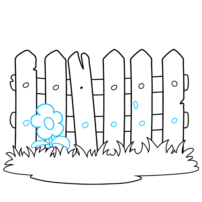 How to Draw a Fence Step 07