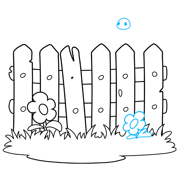 How to Draw a Fence Step 08