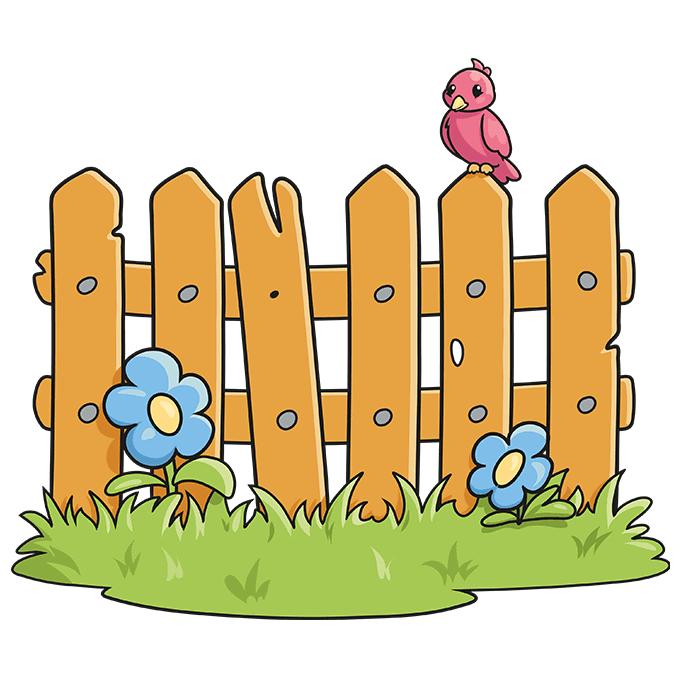 How to Draw a Fence Step 10