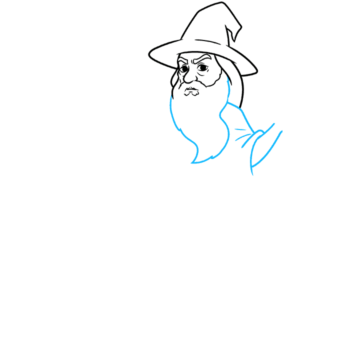 How to Draw Gandalf Step 04