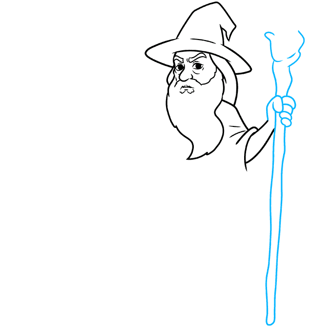 How to Draw Gandalf Step 05
