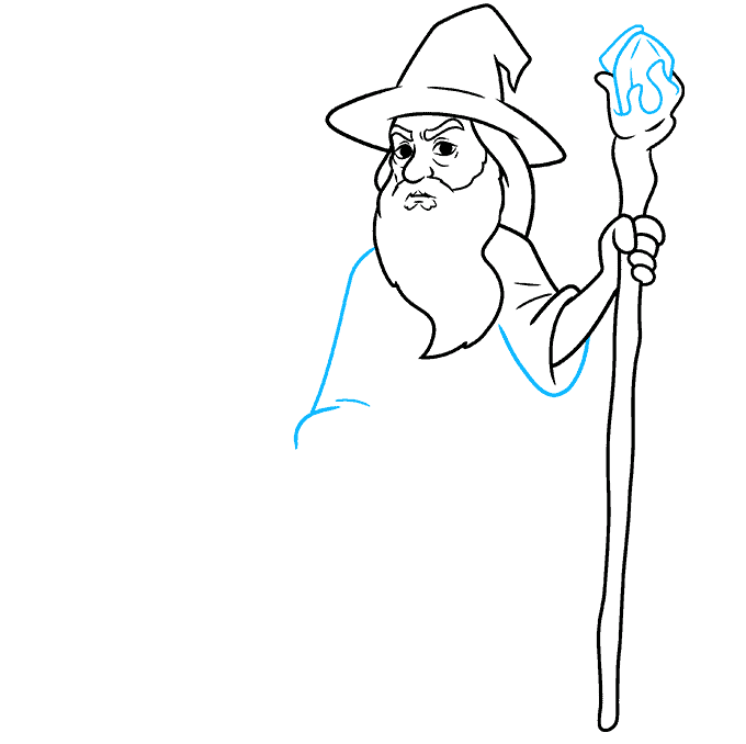 How to Draw Gandalf Step 06