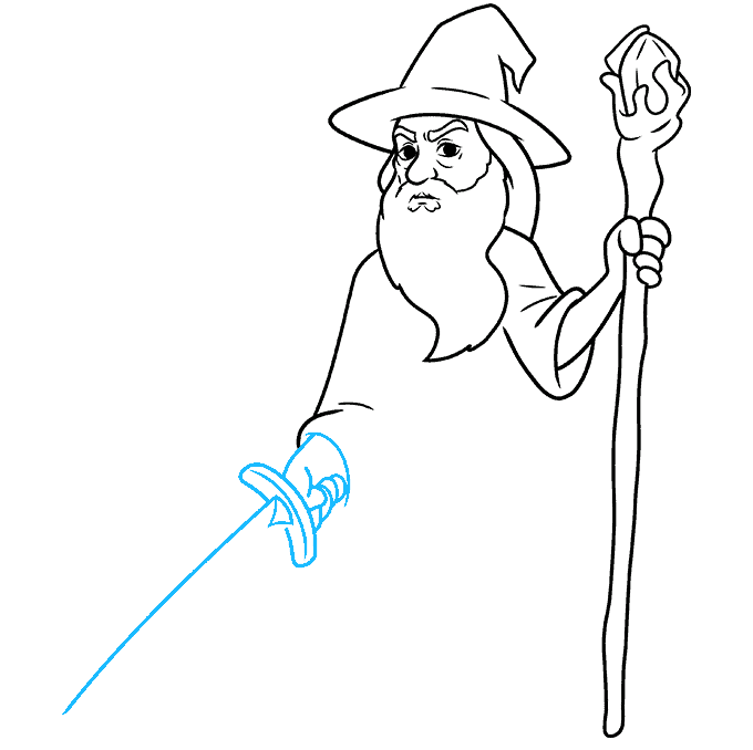 How to Draw Gandalf Step 07