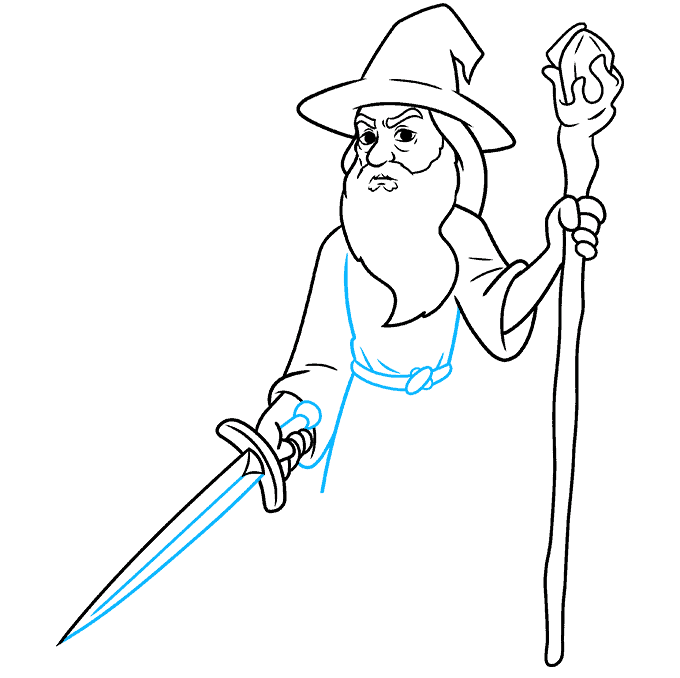 How to Draw Gandalf Step 08