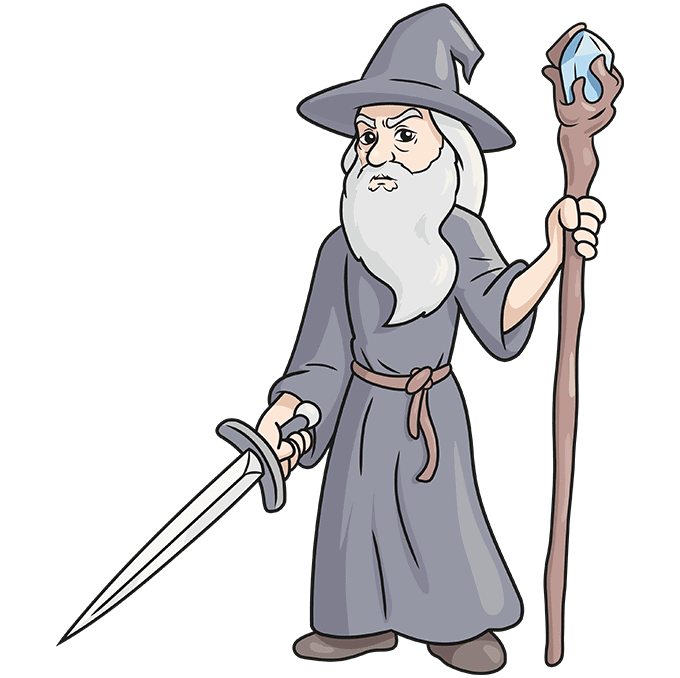 How to Draw Gandalf Step 10