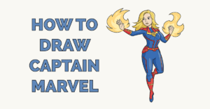 How to Draw Captain Marvel Featured Image