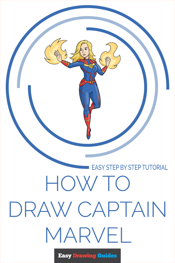 How to Draw Captain Marvel Pinterest Image