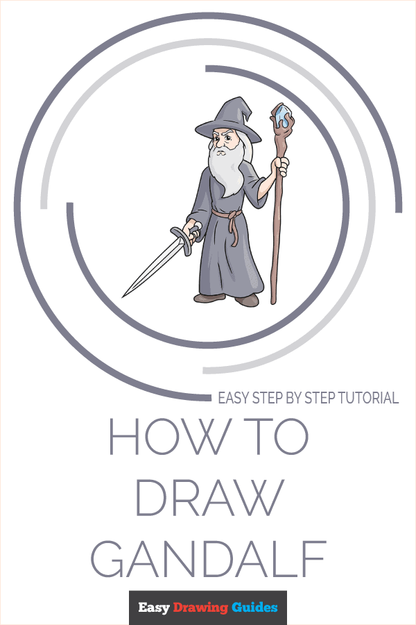 How to Draw Gandalf Pinterest Image