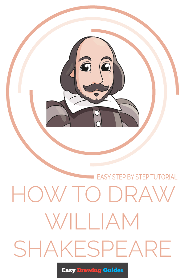How to Draw William Shakespeare | Share to Pinterest