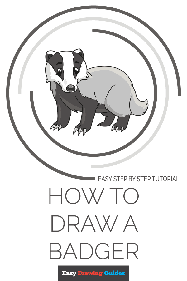 How to Draw a Badger Pinterest Image
