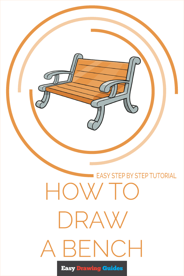 How to Draw a Bench Pinterest Image