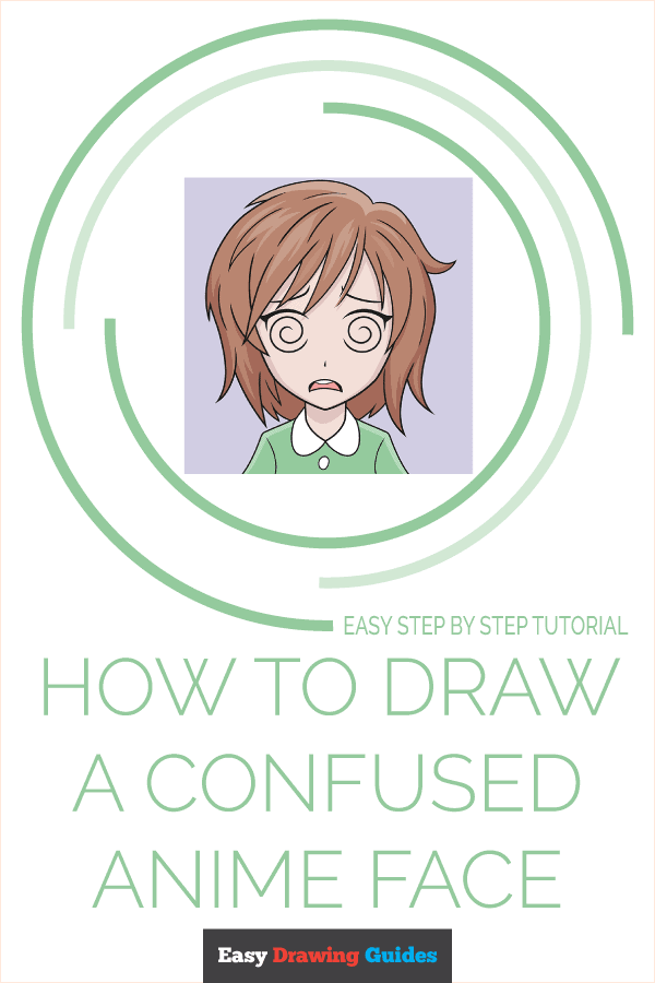 How to Draw a Confused Anime Face Pinterest Image
