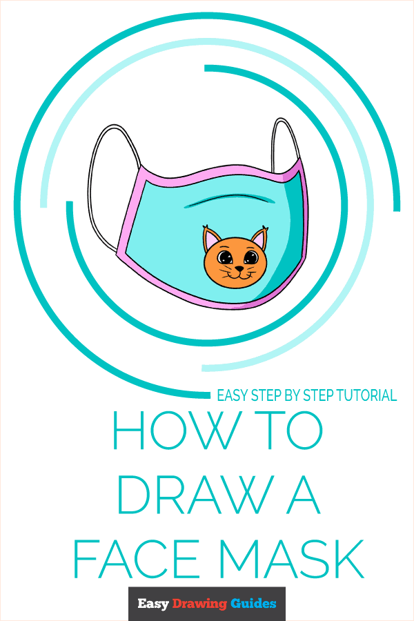 How to Draw a Face Mask Pinterest Image