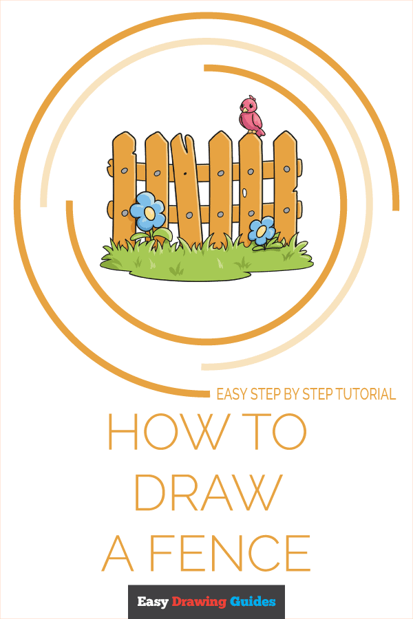 How to Draw a Fence Pinterest Image