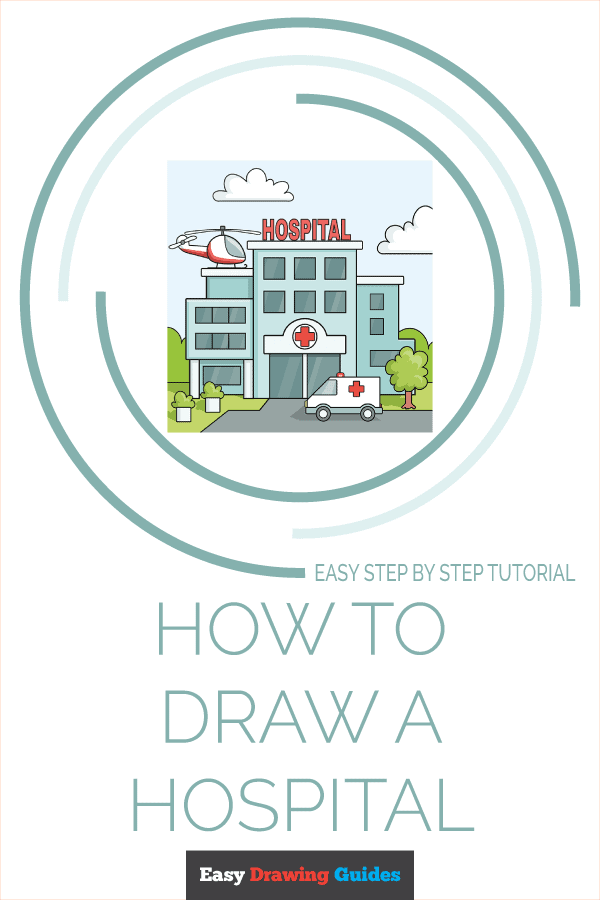 How to Draw a Hospital Pinterest Image