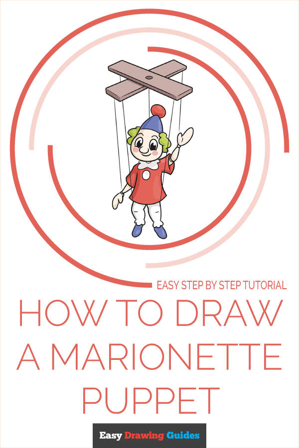 How to Draw a Marionette Puppet Pinterest Image
