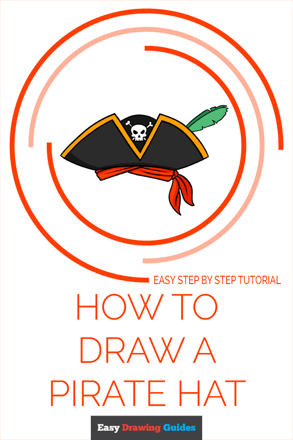 How to Draw a Pirate Hat Pinterest Image