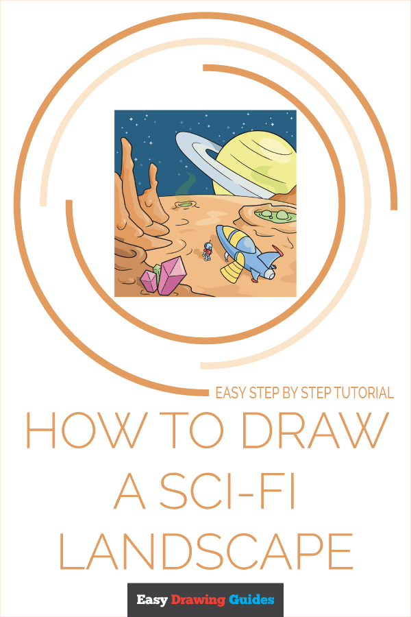 How to Draw a Sci-Fi Landscape Pinterest Image