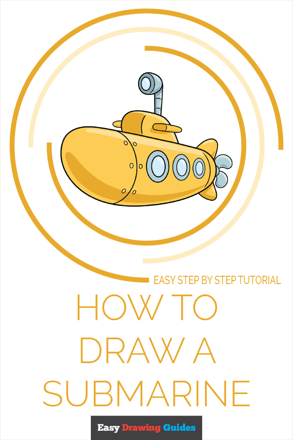 How to Draw Submarine | Share to Pinterest