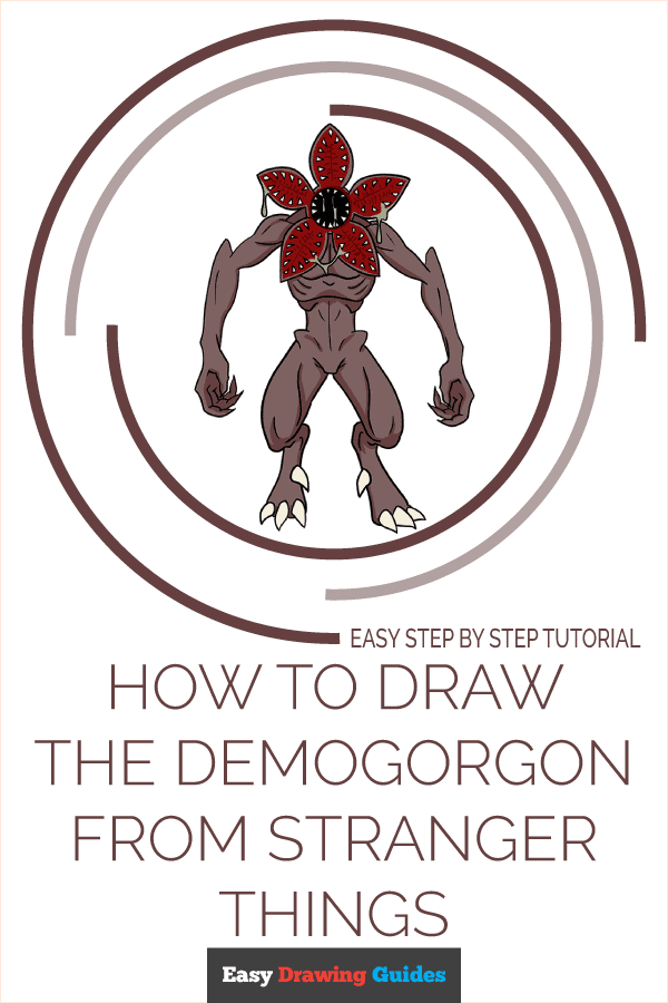 How to Draw the Demogorgon from Stranger Things Pinterest Image