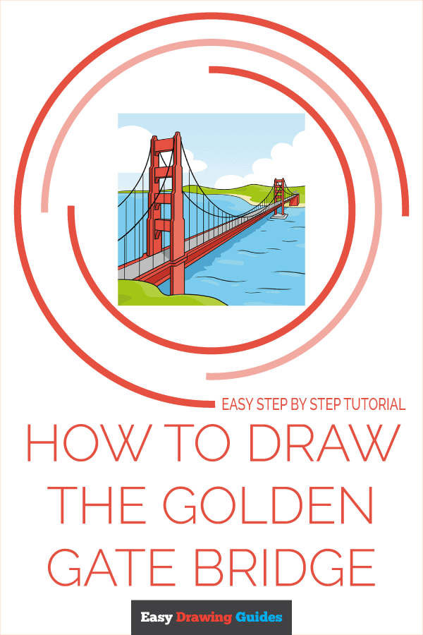 How to Draw the Golden Gate Bridge Pinterest Image