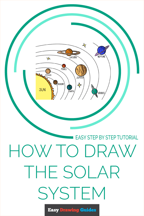 How to Draw the Solar System Pinterest Image