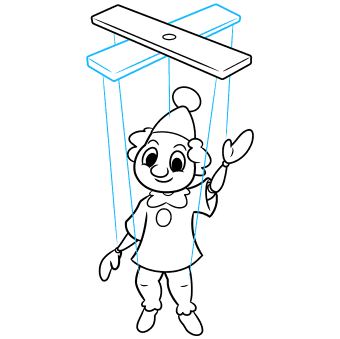 How to Draw a Marionette Puppet Step 09