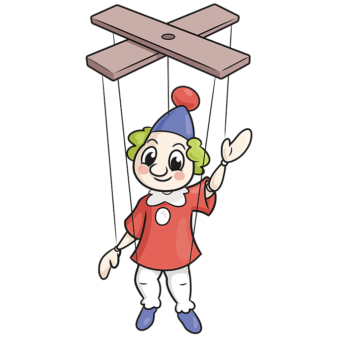 How to Draw a Marionette Puppet Step 10