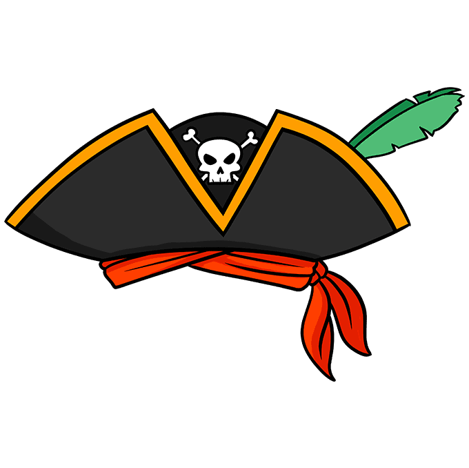 How to Draw a Pirate Hat Step 10